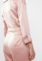 Sissy Boy - Boity bardot shirt playsuit - pink
