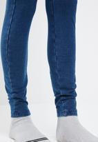 Sissy Boy - Sleeveless 4 way knit denim jumpsuit - dark blue