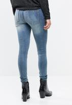 Pieces - Five delly skinny jeans - blue
