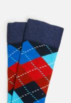 Happy Socks - Argyle sock -blue
