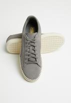 PUMA Select - Suede Classic Blanket Stitch - Charcoal Gray-Whisper White