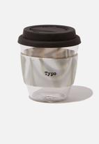 Typo - Give a sip black swirl cup - 250ml