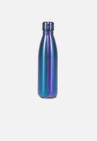 Typo - Metal drink bottle -blue & purple