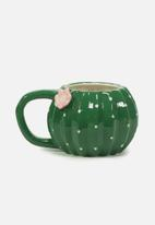 Typo - Novelty cactus shaped mug - green & pink
