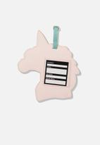 Typo - Shape shifter luggage tag - multi