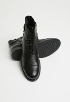 Jack & Jones - Siti leather boot - black