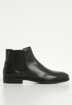 Jack & Jones - Frank leather chelsea - black