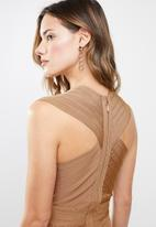 Sissy Boy - Bandage dress with plunging neckline - brown