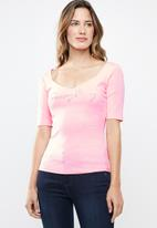 Sissy Boy - Laglia fashion logo top - pink