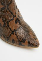 Missguided - Snake tubular boot - tan