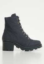 Missguided - Canvas hiking boot - charcoal