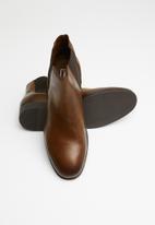 Jack & Jones - Frank leather chelsea boots - brown