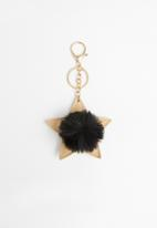 Typo - Bag charm - black & gold