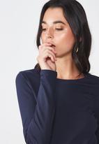 Cotton On - Everyday long sleeve crew neck top - moonlight