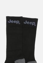JEEP - Formal 1/2 crew socks - black