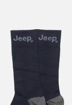 JEEP - Formal 1/2 crew socks - navy
