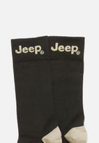 JEEP - Formal 1/2 crew socks - dark brown