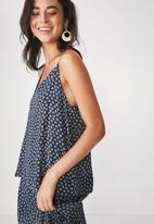 Cotton On - Astrid cami - navy & white