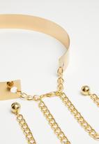 Missguided - Cuff belt - gold