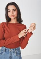 Cotton On - The sister long sleeve top - rust