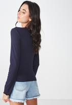 Cotton On - The sister long sleeve top - moonlight