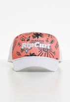 Rip Curl - Mini summerland trucker peak cap - coral & white