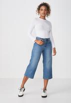 Cotton On - The sister long sleeve top - white