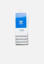adidas Originals - Solid crew socks 2 pack - grey & white