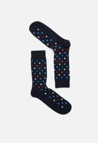 Happy Socks - Dot sock - blue
