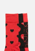 Happy Socks - I love you gift box - red & black