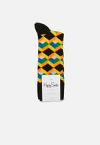 Happy Socks - Optic sqaure sock - multi