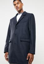 Superbalist - Plain overcoat - navy