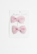 POP CANDY - Bow detailed clips - pink