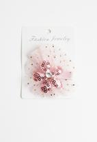 POP CANDY - Flower detailed hairclip - mid pink