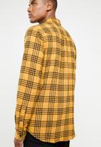 Cotton On - Check rugged long sleeve shirt - yellow