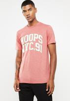 Cotton On - Hoops and NYC.91 tbar tee - pink