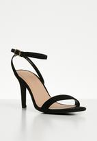 New Look - Wide fit strappy square toe heels - black