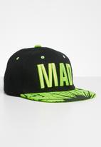 POP CANDY - Mad flat brim cap - green