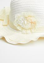POP CANDY - Flower straw hat - cream