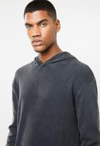 Cotton On - Hooded waffle long sleeve T-shirt - black