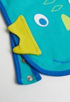 Baby Corner - Dino feeding bib - blue