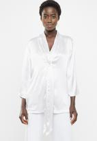 G Couture - Twisted front detail blouse - silver