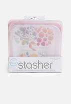 Stasher - Reusable silicone bag - rose quartz