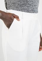 edit - Structured formal pants - Ivory