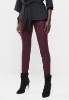edit - Ankle grazer pants - burgundy