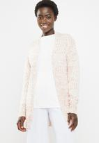 edit - Open front cardigan - pink