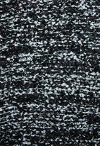 edit - Textured open front cardigan - black