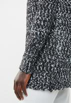 edit - Open front cardigan - black