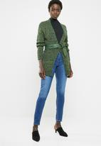 edit - Open front cardigan - green