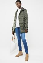 edit - Quilted puffer jacket - khaki